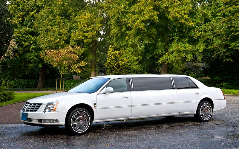 Witte Cadillac Volgauto – 7 persoons