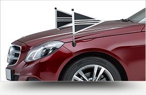 Collectie bordeaux rood rouwvervoer - Straver Mobility Uitvaartvervoer. Rouwauto. Volgauto. Mercedes. Cadillac.