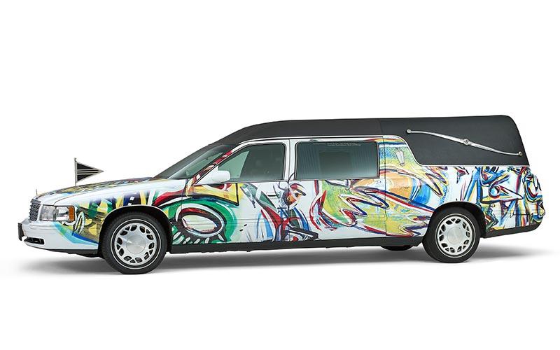 Cadillac gekleurde rouwauto – Landaulet uitvoering