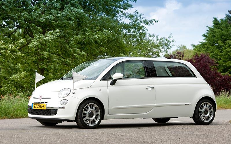 Fiat 500 Kinderrouwwagen - Straver Mobility Uitvaartvervoer