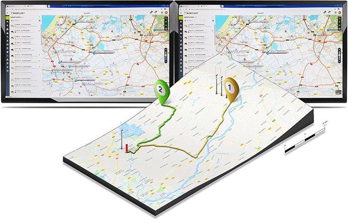Ons rouwvervoer beschikt over het Track and trace van TomTom.