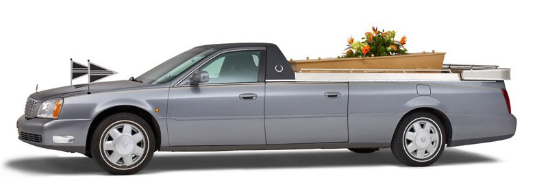 Grijze Cadillac Open Rouwauto