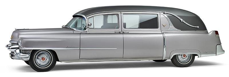 Cadillac Rouwauto, nostalgische Amerikaanse Oldtimer uit 1954