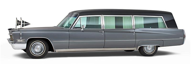 Cadillac Rouwauto, nostalgische Amerikaanse Oldtimer uit 1968