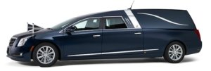 Blauwe Cadillac Rouwauto – Landaulet uitvoering