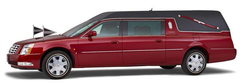 Bordeauxrode Cadillac Rouwauto – Landaulet uitvoering