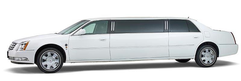 Witte Cadillac Volgauto – 7 personen -Straver Mobility Uitvaartvervoer