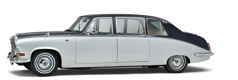 Daimler Two-Tone Limousine Volgauto – 6/7 personen - Straver Mobility Uitvaartvervoer