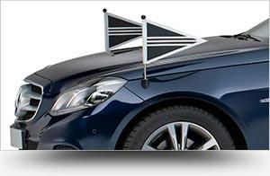 Collectie blauw staatsievervoer - Straver Mobility Uitvaartvervoer. Rouwauto. Volgauto. Mercedes.