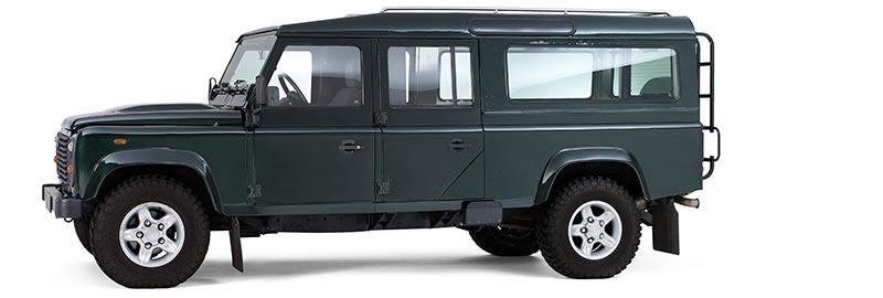 LandRover Defender Rouwauto – Glas uitvoering