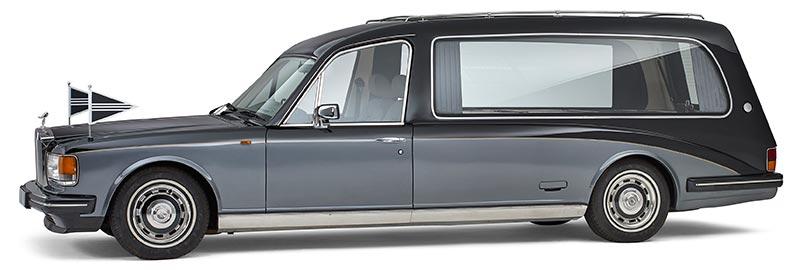 Rolls-Royce rouwauto, klassieke zwartgrijze Oldtimer - Straver Mobility Uitvaartvervoer