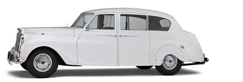 Vanden Plas Princess Limousine Volgauto, een klassieke Engelse oldtimer uit 1957 - Straver Mobility Uitvaartvervoer