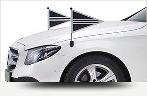 Collectie wit rouwvervoer - Straver Mobility Uitvaartvervoer. Rouwauto. Volgauto. Mercedes. Cadillac